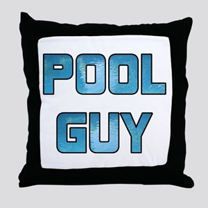 Pool Guy Throw Pillow