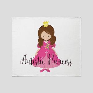 Autistic Princess Throw Blanket