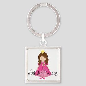 Autistic Princess Square Keychain