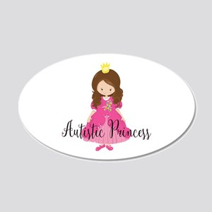 Autistic Princess 20x12 Oval Wall Decal