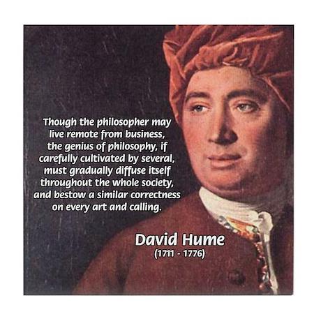 David Hume Philosophy Tile Coaster