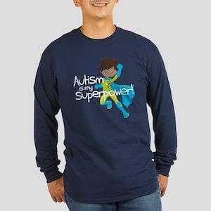 Autism Superpower Ethnic Long Sleeve Dark T-Shirt