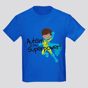 Autism Superpower Ethnic Kids Dark T-Shirt