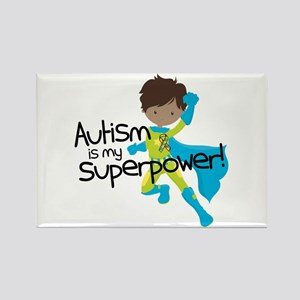 Autism Superpower Ethnic Rectangle Magnet