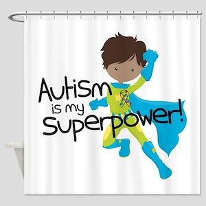 Autism Superpower Ethnic Shower Curtain