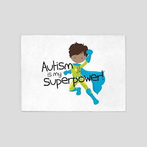 Autism Superpower Ethnic 5'x7'Area Rug