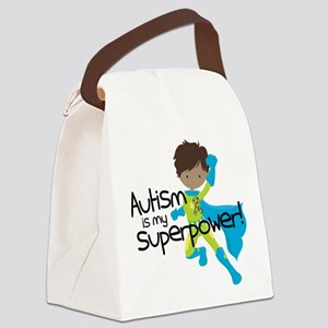 Autism Superpower Ethnic Canvas Lunch Bag