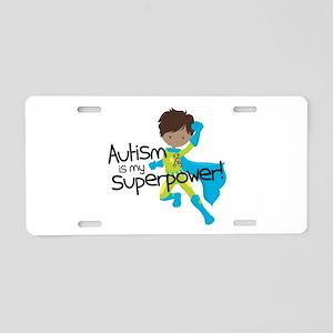 Autism Superpower Ethnic Aluminum License Plate