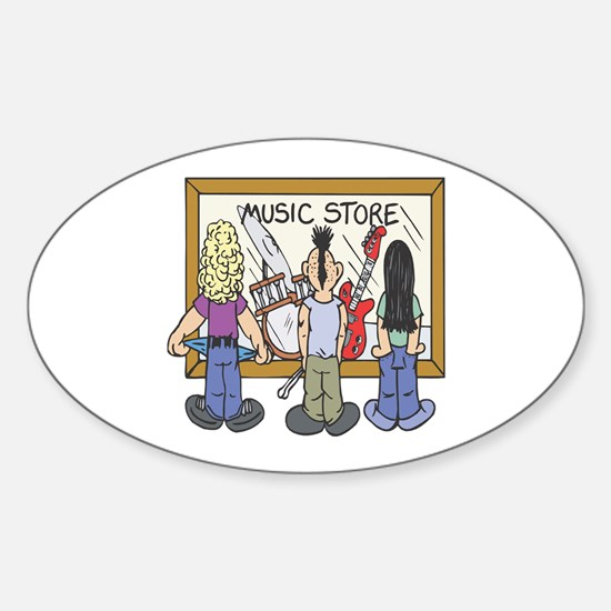 Struggling Musicians Oval Decal