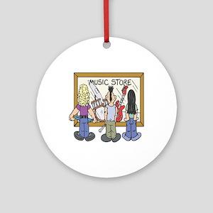 Struggling Musicians Ornament (Round)