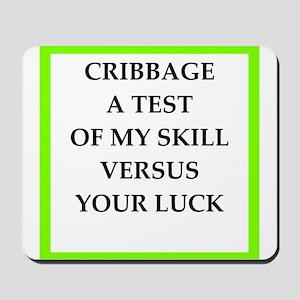cribbage joke Mousepad