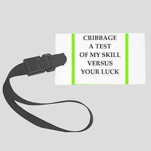 cribbage joke Luggage Tag