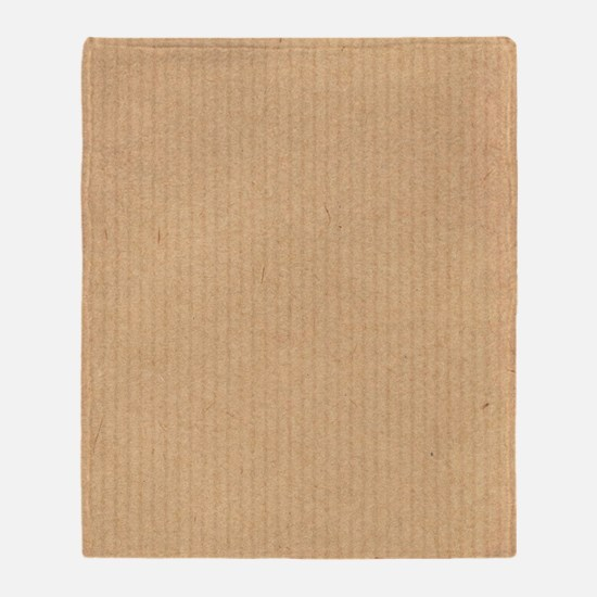 Cute Cardboard Throw Blanket