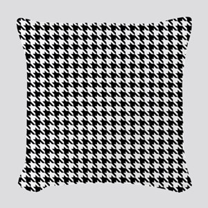 Houndstooth pattern Woven Throw Pillow