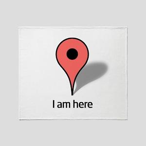 Google Map marker Throw Blanket