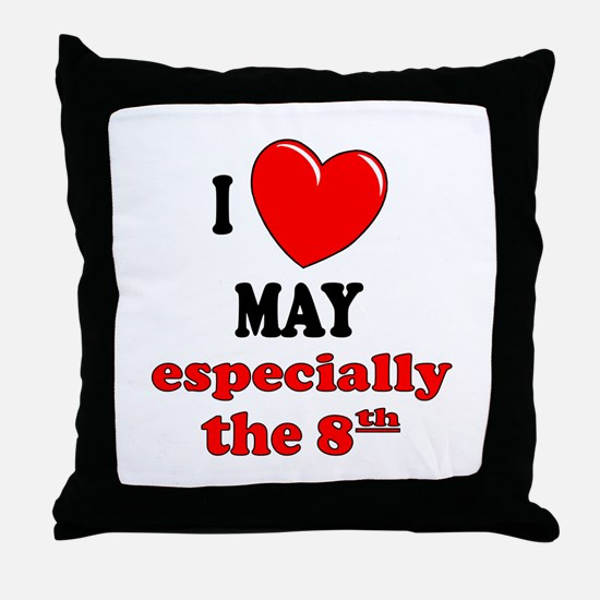 May 8th Throw Pillow