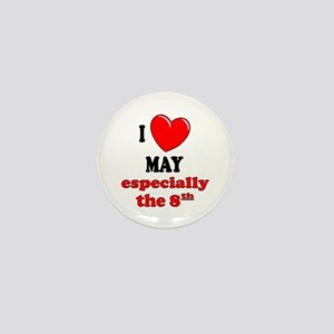 May 8th Mini Button