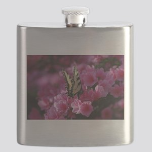 on the pink Flask