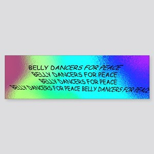 Belly Dance For Peace Bumper Sticker