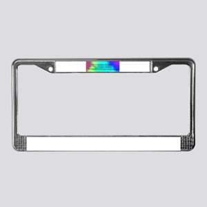 Belly Dance For Peace License Plate Frame
