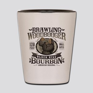 Brawling Woodbooger Black Hill Bourbon Shot Glass