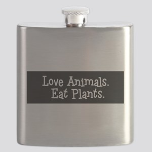 Love Animals Eat Plants Flask