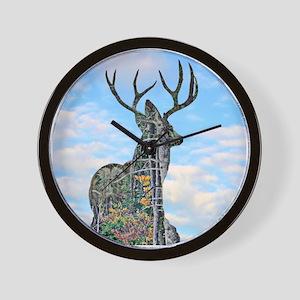 Forest buck merge Wall Clock