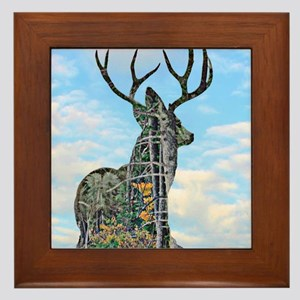 Forest buck merge Framed Tile