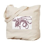 Edwina's Dragon sepia Tote Bag