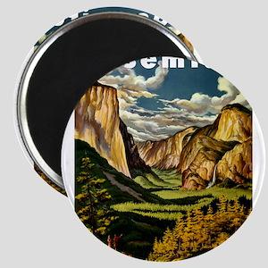 Vintage Yosemite Travel Magnets