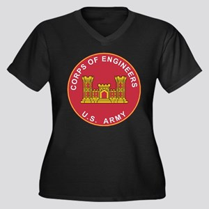 US Army Corps of Engineers Logo Plus Size T-Shirt
