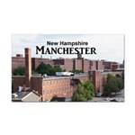 Manchester Rectangle Car Magnet
