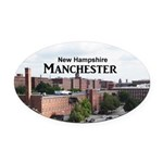 Manchester Oval Car Magnet