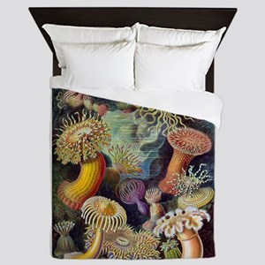 Colorful Anemones Queen Duvet