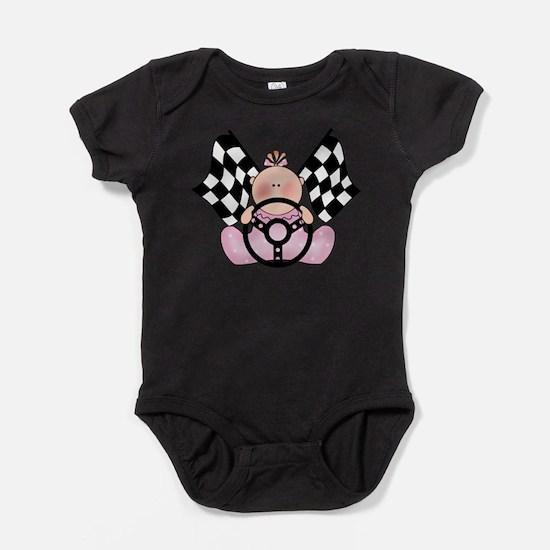 Unique Checkered flag Baby Bodysuit