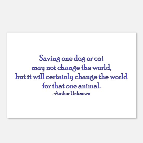 Saving One Life At a Time Postcards (Package of 8)