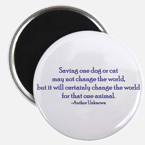 "Saving One Life At a Time 2.25"" Magnet (10 pack)"