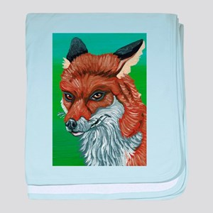 Sly Red Fox baby blanket