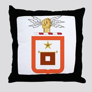 US Army Signal Corps Division Emblem Throw Pillow