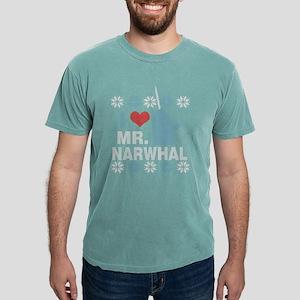 Mr. Narwhal Elf Sweater Print Women's Dark T-Shirt