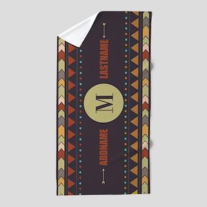 Custom Monogram, Personalized Native A Beach Towel