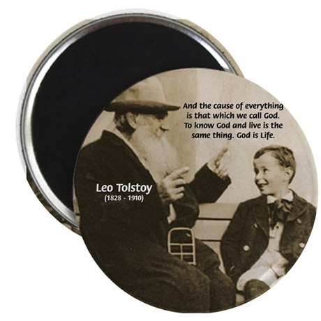 """Leo Tolstoy: God Quotes 2.25"""" Magnet (10 pack)"""