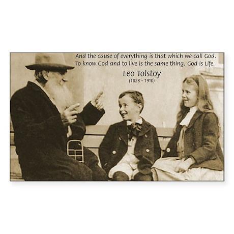 Leo Tolstoy: God Quotes Rectangle Sticker