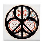 Jewish Peace Window Tile Coaster