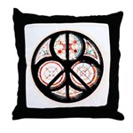 Jewish Peace Window Throw Pillow
