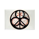 Jewish Peace Window Rectangle Magnet