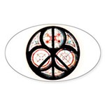 Jewish Peace Oval Sticker