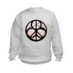 Jewish Peace Window Kids Sweatshirt