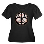 Jewish Peace Window Women's Plus Size Scoop Neck D