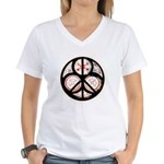 Jewish Peace Window Women's V-Neck T-Shirt